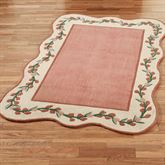 Melody Garden Rectangle Rug Coral