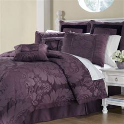 Lorenzo Comforter Bed Set Plum