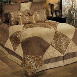 Safari Comforter Bed Set Tawny Beige