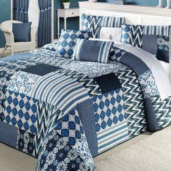 Santorini Grande Bedspread Indigo