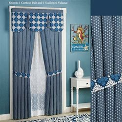 Santorini Tailored Curtain Pair Indigo 84 x 84