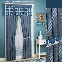 Santorini Tailored Curtain Pair Indigo 84 x 84