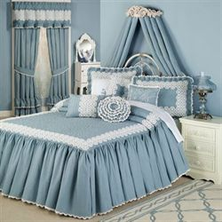Reminisce Bedspread Sterling Blue