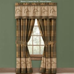 Ducks Unlimited Curtain Pair Multi Warm 84 x 84