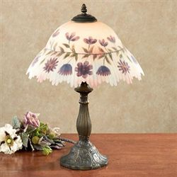Melodys Wish Table Lamp Wisteria Each with CFL Bulb