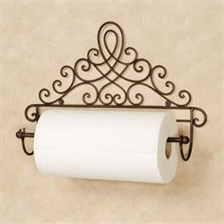 Cassoria Wall Paper Towel Holder Antique Bronze