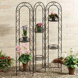 Caprice Tri Fold Plant Stand Antique Bronze