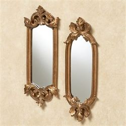 Felissia Wall Mirror Set Satin Gold Set of Two