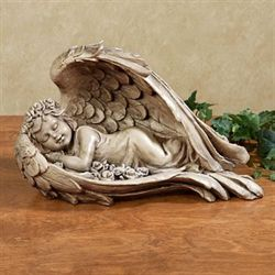 Sweet Dreams Cherub Sculpture Aged Stone