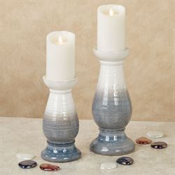 Tempest Candleholders Gray Set of Two
