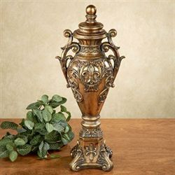 Faiza Covered Urn Aged Gold