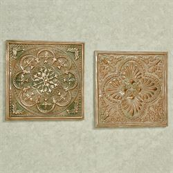 Mariko Wall Plaques Multi Cool Set of Two