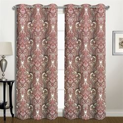 Fredonia Grommet Curtain Pair Dark Red