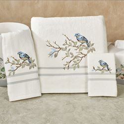 Love Nest Bath Towel Set Ivory Bath Hand Fingertip