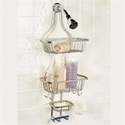 Curve Appeal Shower Caddy Satin Nickel