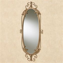 Savelli Oval Wall Mirror Satin Gold