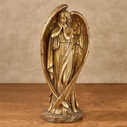 Angel Grace Table Sculpture Aged Gold