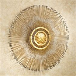 Sunburst Metal Wall Sculpture Gold