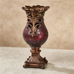 Engracia Crackle Table Vase Red