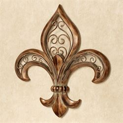 Adalina Fleur de Lis Wall Art Burnished Gold