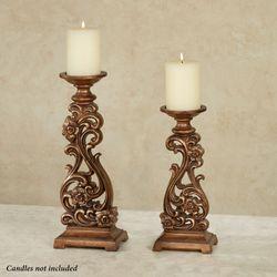 JaKayla Candleholders Burnished Gold Set of Two