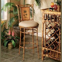 Royal Palm Tree Counter Stool