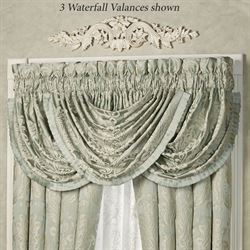 Villa Verde Waterfall Valance Celadon 42 x 33