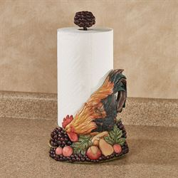 Tuscany Rooster Paper Towel Holder Multi Jewel