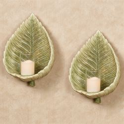 Island Bouquet Wall Sconces Green Pair