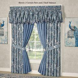 Arabelle Tuck Valance Blue 90 x 20