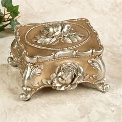 Marianne Covered Trinket Box Champagne Gold