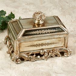 Bouquet Bliss Covered Box Silver with Gold