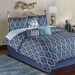 Axel Comforter Bed Set Dark Blue