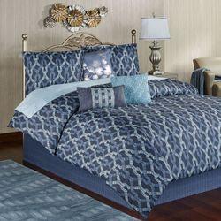 Axel Comforter Bed Set Dark Blue