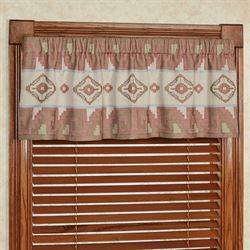 Valley View Tailored Valance Multi Warm 60 x 16
