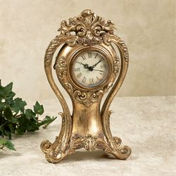 Angelique Accent Clock Aged Gold