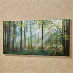Summer Forest Canvas Wall Art Green