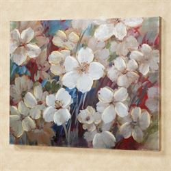 Flourishing Florals Canvas Wall Art Multi Warm