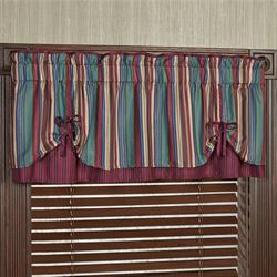 Brighten Layered Tie Valance Multi Jewel 60 x 18