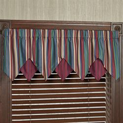 Brighten Layered Ascot Valance Multi Jewel 60 x 18