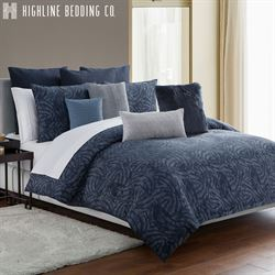 Jakarta Swirl Mini Comforter Set Midnight Blue