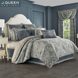 Miranda Comforter Set Steel Blue