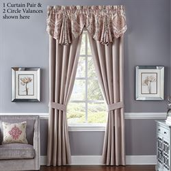 Giulietta Tailored Curtain Pair Light Almond 82 x 84