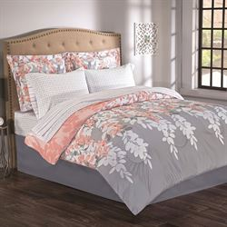 Amber Falls Comforter Bed Set Gray