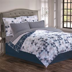 Nexus Comforter Bed Set Dark Blue