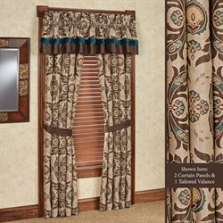 Loretta Tailored Curtain Panel Multi Warm 48 x 84