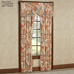 Contempo Wide Tailored Curtain Pair Multi Warm