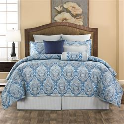 Lainey Comforter Set Blue
