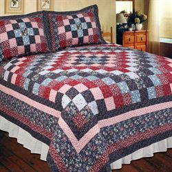 Nora Patchwork Quilt Multi Warm