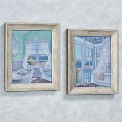 Coastal Breeze Framed Wall Art Multi Cool Set of Two